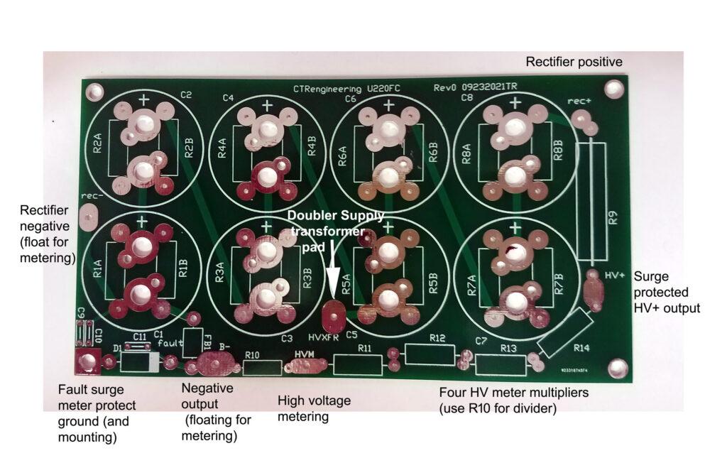 U220FC Heathkit Drake TenTec filter capacitor board