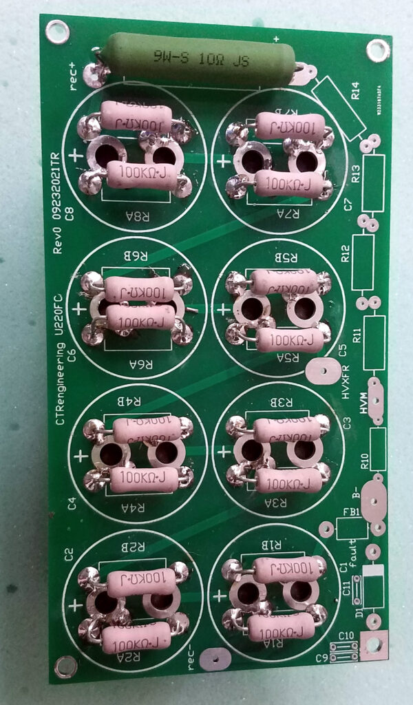 Heathkit, Drake, and other amplifier filter capacitor board